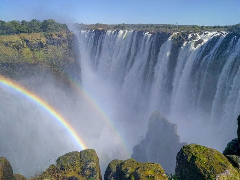 A bela vista do Victoria Falls