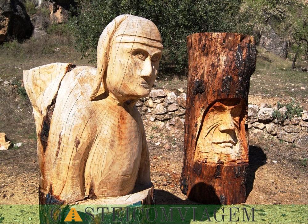 Bogarra escultura em madeira