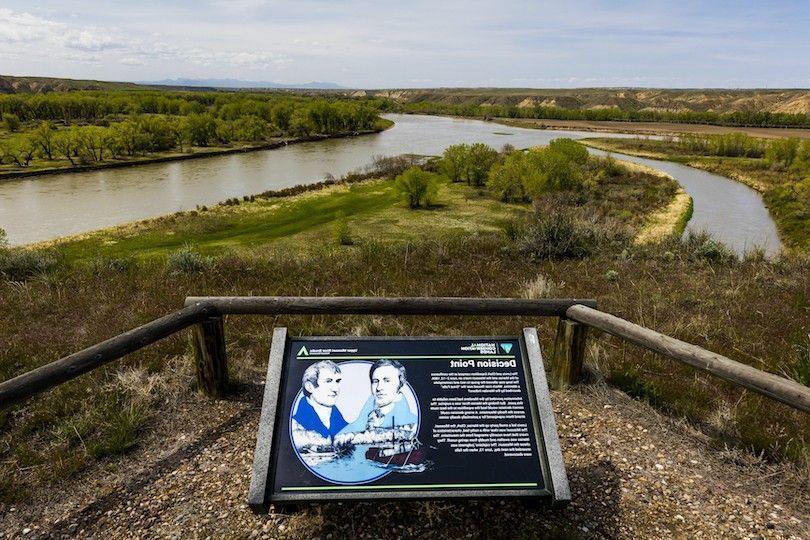 breaks curso superior do NSP Monumento Nacional Rio Missouri