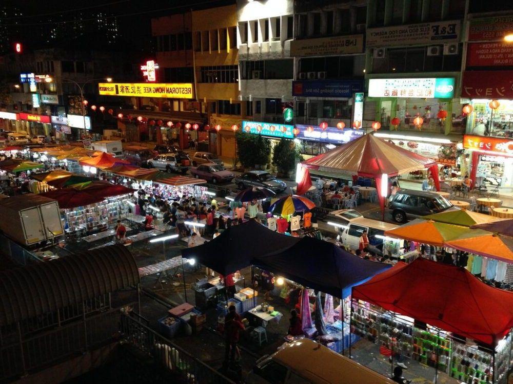 destino Malásia noite Mercado Langkawi