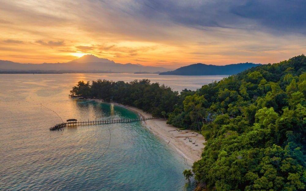 destino Manukan Ilha Malásia