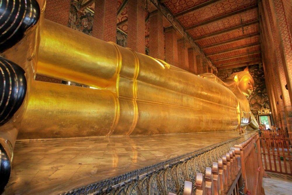 Destino Templo do Buda reclinável Bangkok