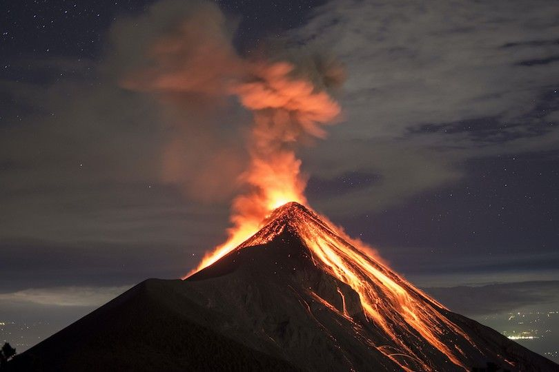 Fogo vulcão