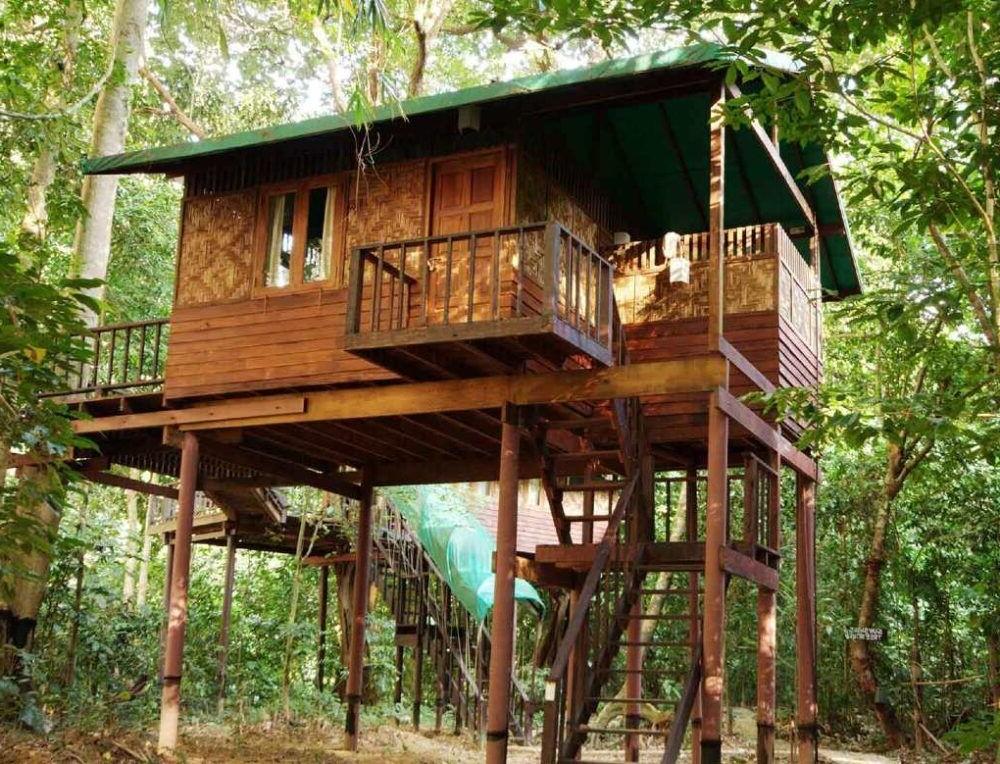 Hospedagem no nosso Jungle House Khao Sok