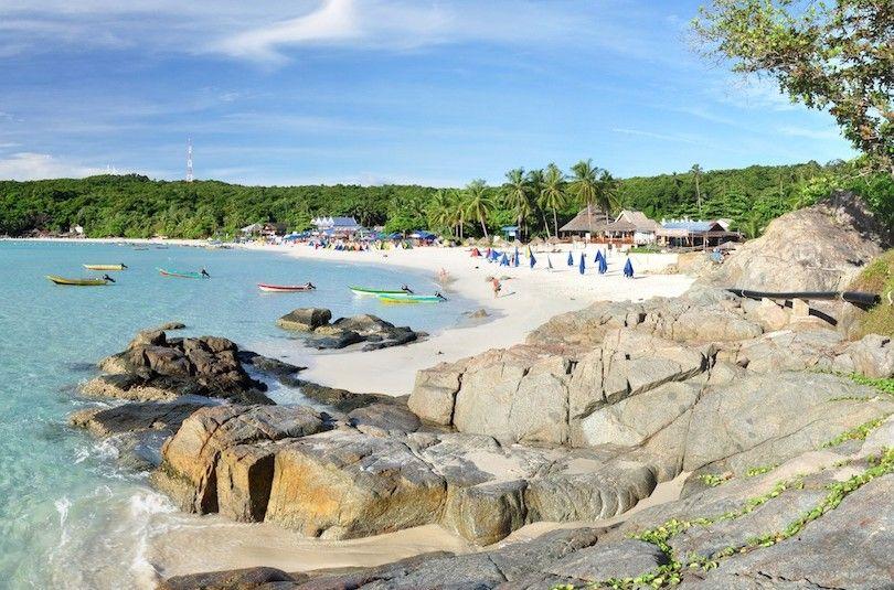 longa praia Perhentian