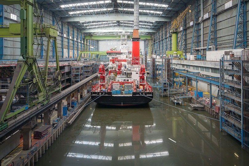 Meyer Werft dockhalle