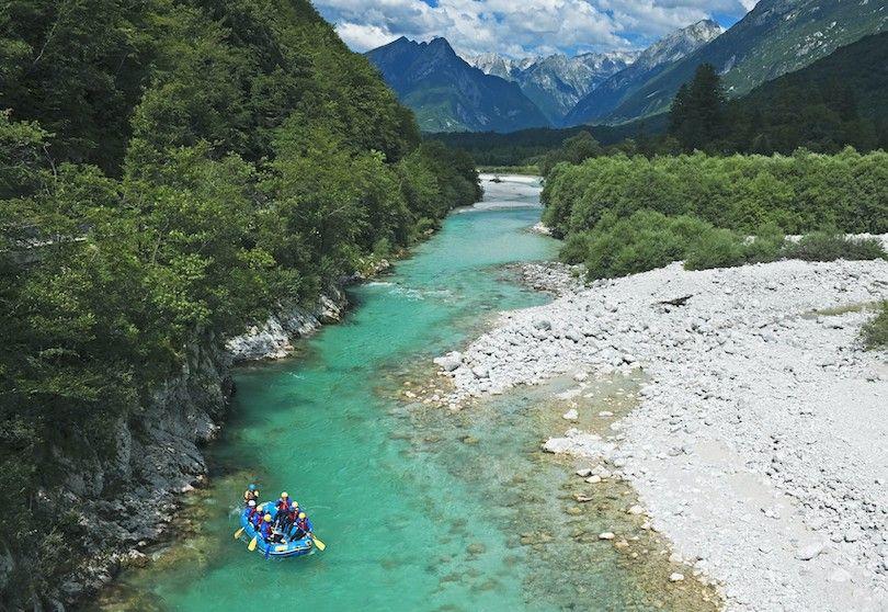 rafting no o rio Soca