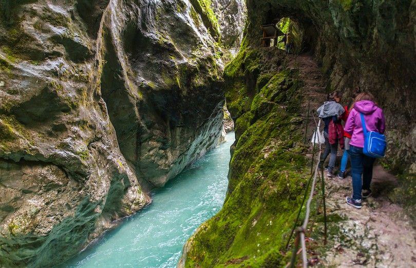 trilha desfiladeiro tolmin