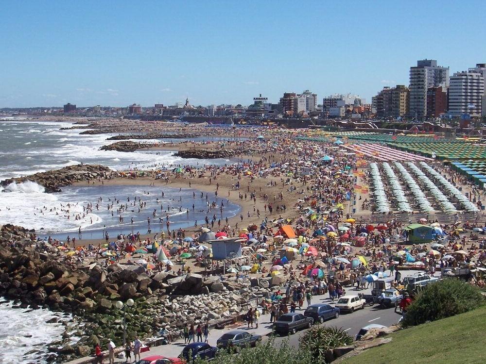 turismo para as praias de Mar de Plata