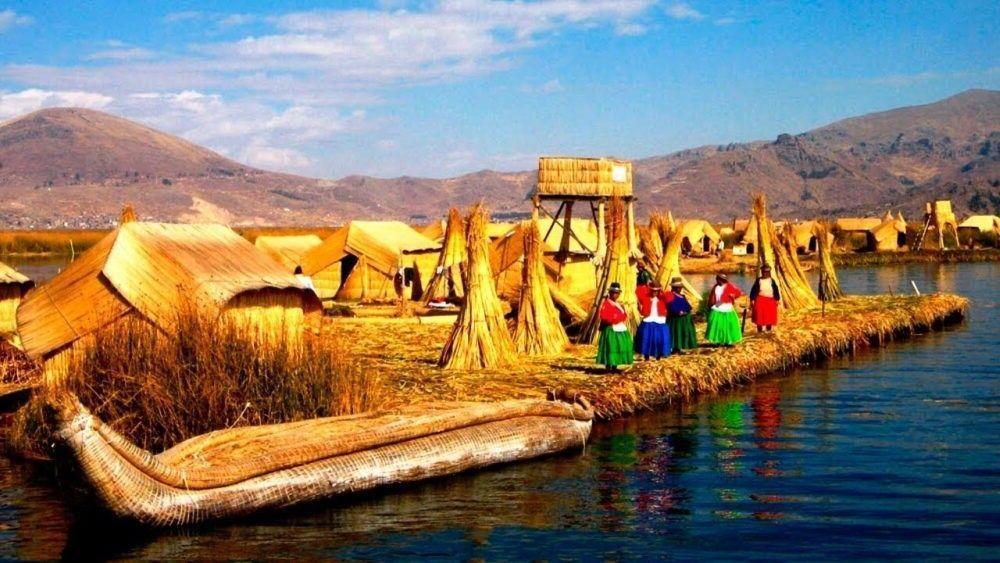 um belo lugar turístico do Peru Uros