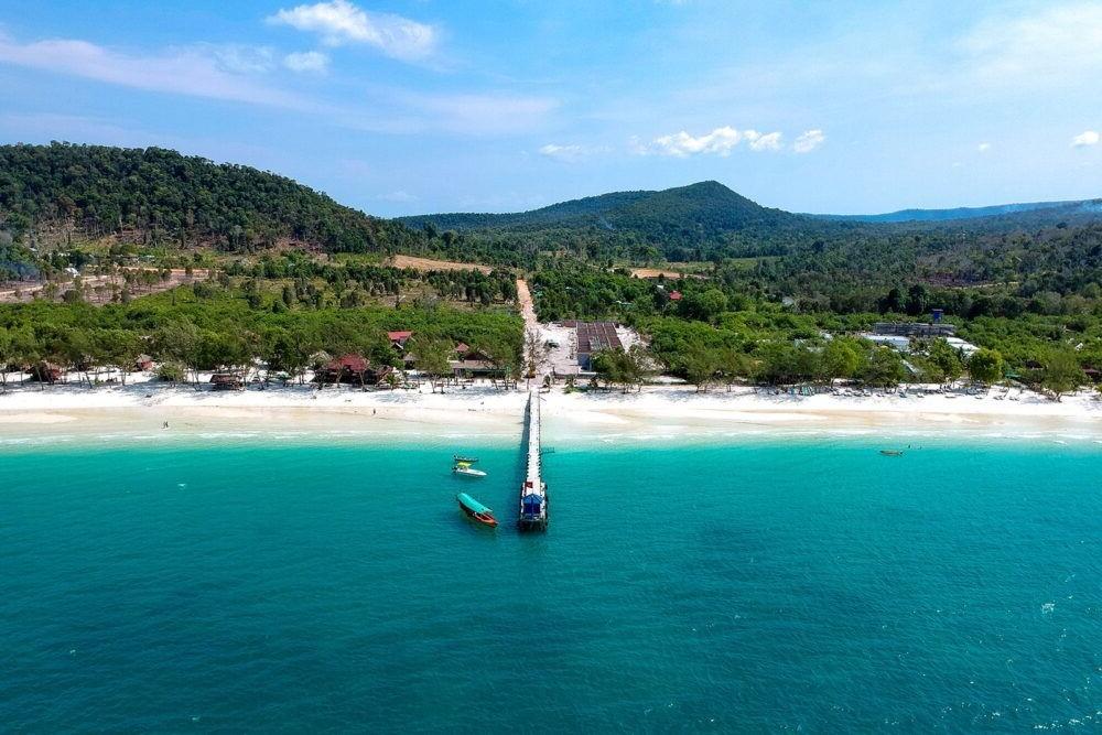 vista da costa de Koh Kong