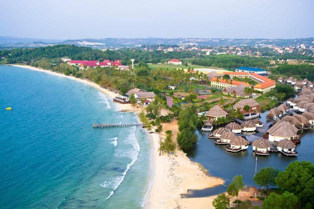 vista da costa de Sihanoukville