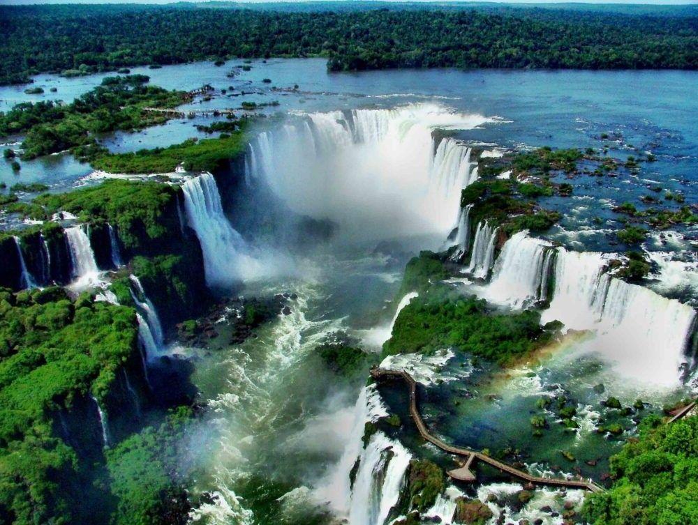 Vista das cataratas do Iguazú